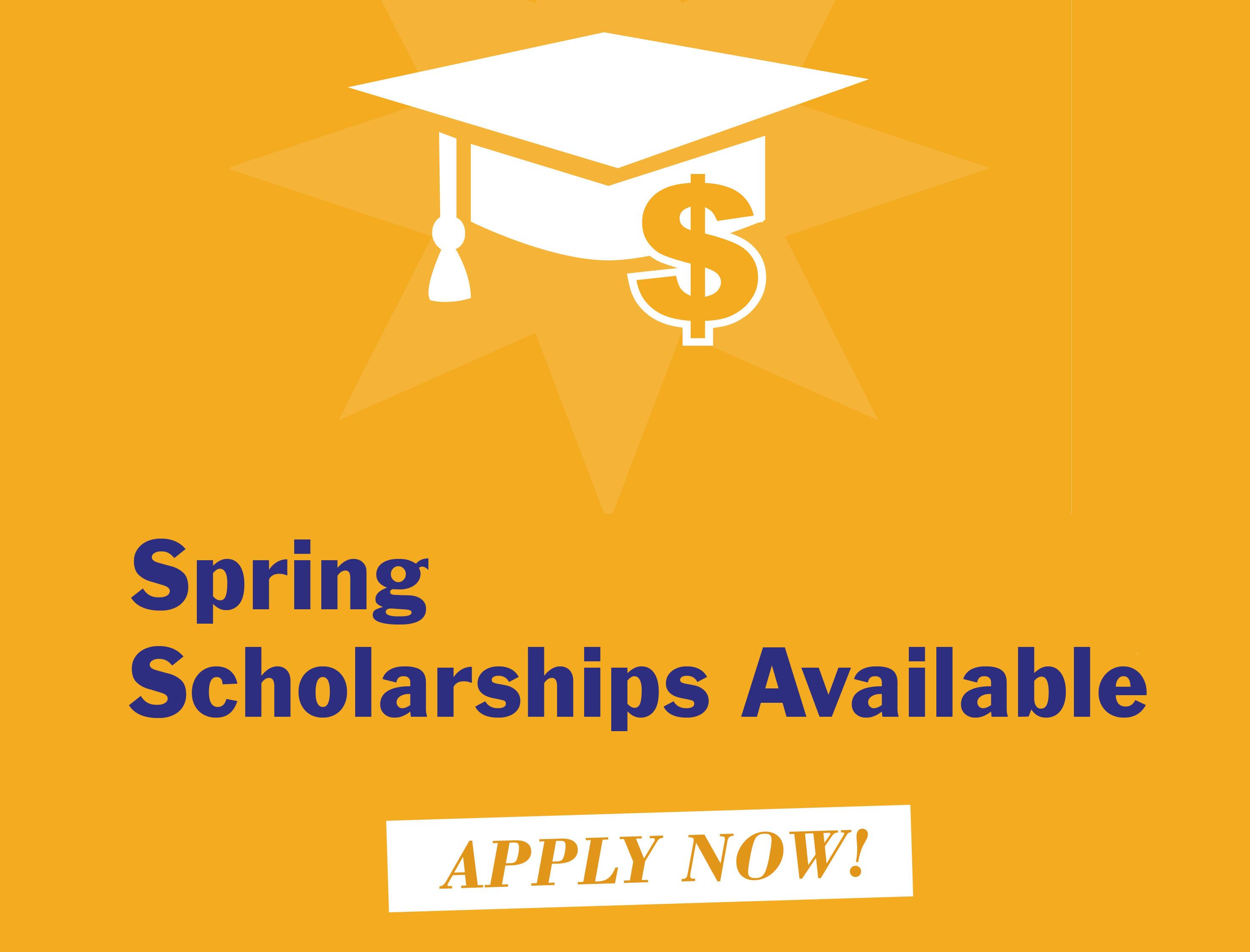 Apply For Winter and Spring Scholarships. Deadline is November 5th for Winter,!