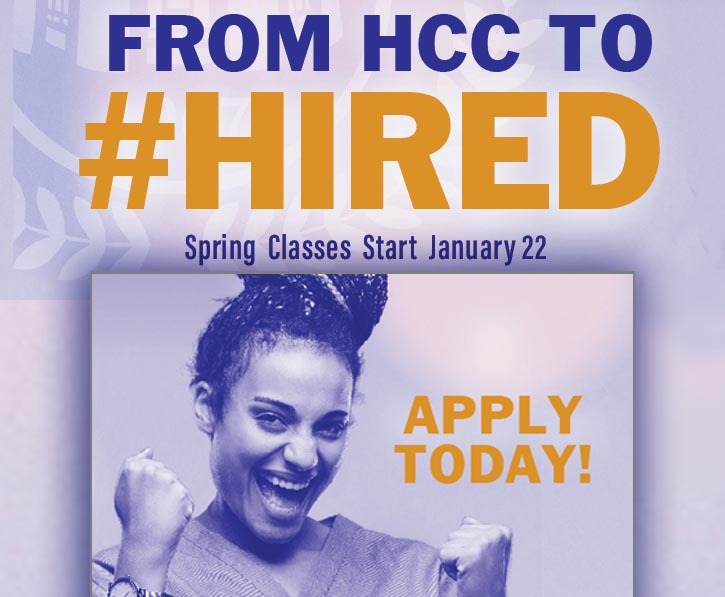 From HCC to Hired! Apply Today!