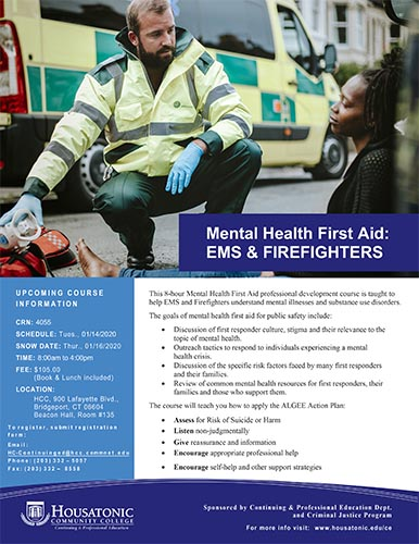 Mental Health First Aid EMS Flyer