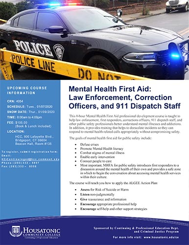 Mental Health First Aid Law Enforcement Flyer