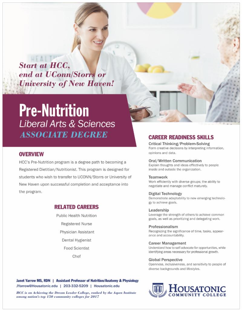 Pre-Nutrition Degree