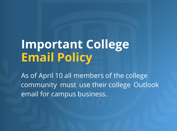 Important New College Email Policy Please Read
