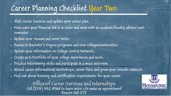 Second Year Checklist