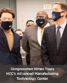 Congressman Himes Tours HCCs Advanced Manufacturing Technology Center