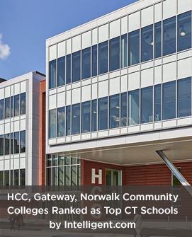 Housatonic, Gateway, Norwalk Community Colleges Ranked as Top Connecticut Schools by Intelligent.com